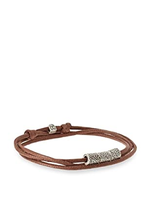 Griffin Brown Oxidized Silver Bowery Convertible Triple Wrap Bracelet