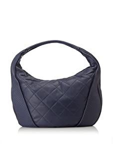 Christopher Kon Women's Adele Large Quilted Hobo (Blue)
