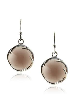 Plukka Women's Smoky Quartz Swirl Earrings