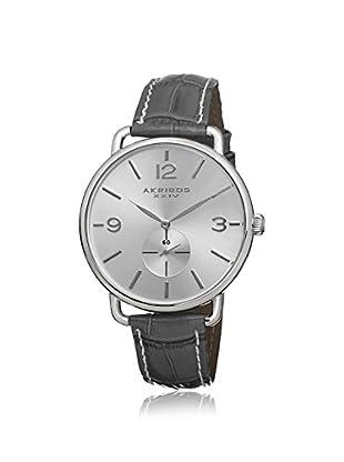 Akribos XXIV Women's AK658GY Gray/Silver Stainless Steel Watch