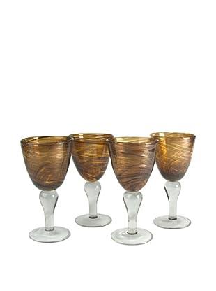 Artland Set of 4 Shimmer 12-Oz. Goblets (Amber)