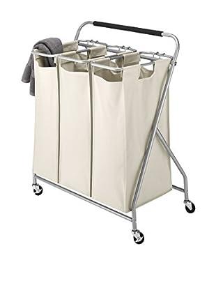 Whitmor 3-Bag Laundry Sorter, Tan
