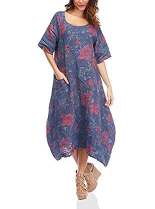 100% Lino by Bleu Marine Kleid Annie