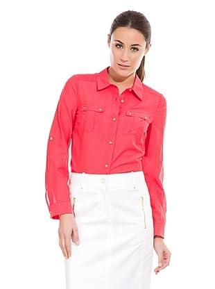 Cortefiel Camisa Algodón / Seda (Rojo)