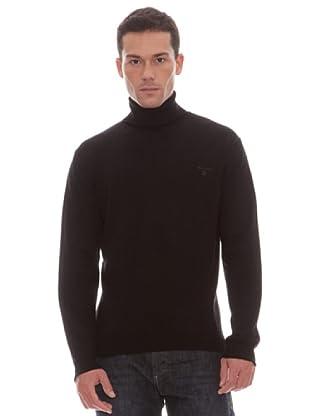 Gant Jersey Liso Vuelto (negro)
