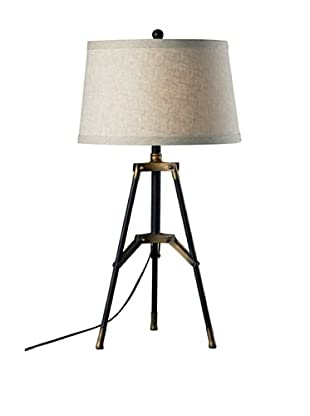 Artisitic Lighting Table Lamp, Restoration Black, Aged Gold