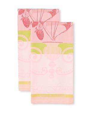 Garnier-Thiebaut Set of 2 Fraisier Kitchen Towels, Rose