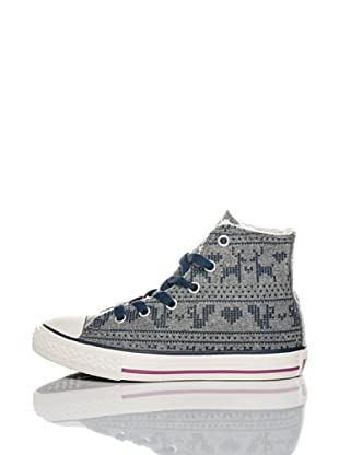 Converse Zapatillas All Star Felt Print (Gris / Azul)