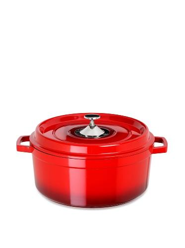 Art & Cuisine Cocotte Series Cast Aluminum Round Soup Pot (Red)