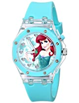 Disney Kids' PN1173 Flashing Lights Ariel Watch with Blue Rubber Band