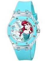 Disney Kids' PN1173 Flashing Lights Ariel Watch with Blue Rubber Band