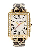 Betsey Johnson Betsey Johnson Leopard Print Patent Leather Watch, Bj00126-04
