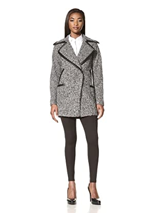 Cynthia Rowley Women's Tweed Double-Breasted Coat (Tweed)
