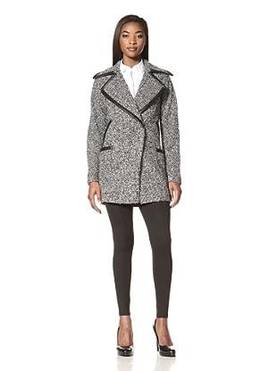 Cynthia Rowley Women's Tweed Double-Breasted Coat (Tweed)
