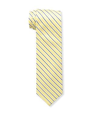 Bruno Piattelli Men's Striped Tie, Gold