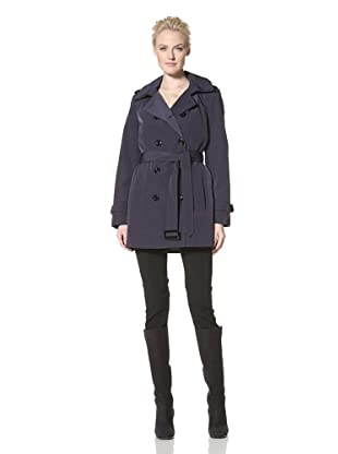 Calvin Klein Women's Double-Breasted Trench (Navy)