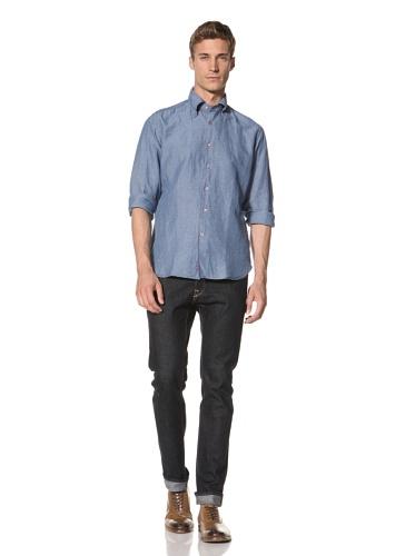 Orian Men's Chambray Shirt (Blue)