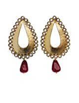 Touchstone Gold-Plated Dangle & Drop Earring For Women Gold - PWETL180-01P--Y1