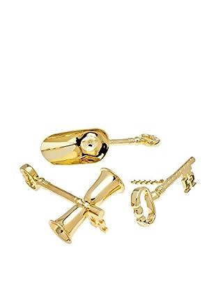 Godinger 3-Piece Gold Key Bar Set