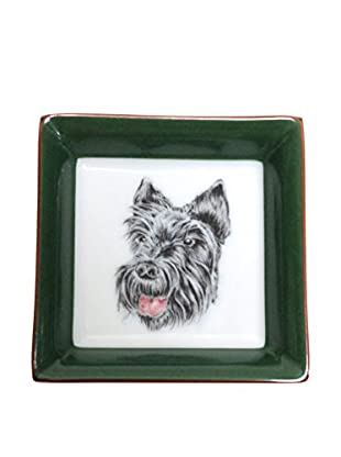 Hermès Scottie Dog Dish, White/Green/Grey