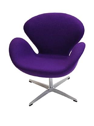 Manhattan Living Swan Fabric Chair, Purple