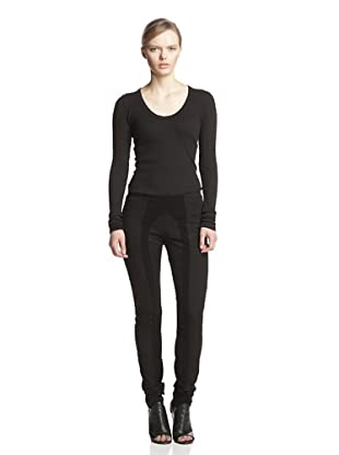 Rick Owens DRKSHDW Women's Seamed Legging (Black)