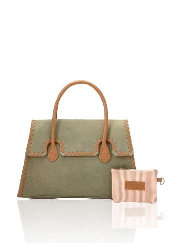 Jamie Young Handbags Women's Whipstitch Handbag, Olive Vintage Canvas