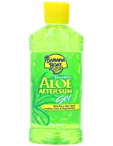Banana Boat Aloe Vera Sun Burn Relief Sun Care After Sun Gel - 8 Ounce (Pack of 4)