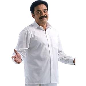 Minister Cotton 100% Pure Cotton White Shirt (Full Sleve)