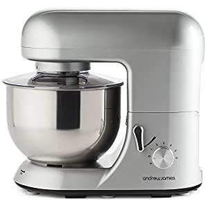 Andrew James Food Stand Mixer - 5.2 Litre - Silver