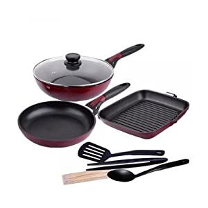 Wonderchef Click Space Saver Cooking Set With Freebie