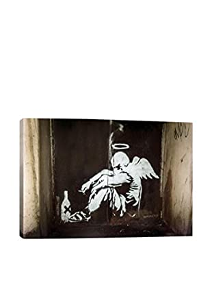 Banksy Angel In Hallway Gallery Wrapped Canvas Print