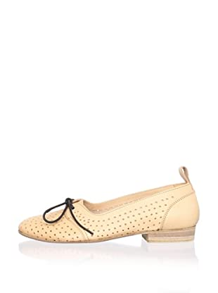 Swedish Hasbeens Women's Perforated Flat (Nature)