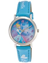 Disney Analog Multi-Color Dial Women's Watch - 3K2199U-PS (LIGHT BLUE)