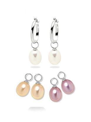 Valero Pearls 60200561 - Pendientes de mujer de plata con perla cultivada de agua dulce