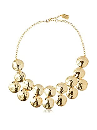 Karine Sultan Jewelry Double Row Medallion Disc Necklace