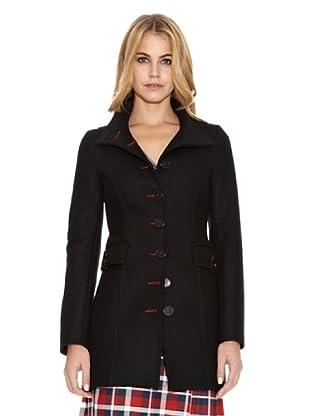 El Ganso Abrigo Cuello Circular (Negro)