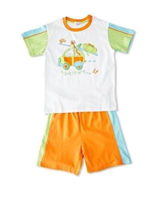 Pillerias Pijama Mircino (Naranja / Blanco / Verde)