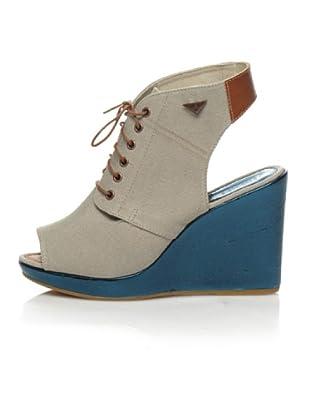 Diesel Keil-Sandalette On The Wedge (Beige/Blau)