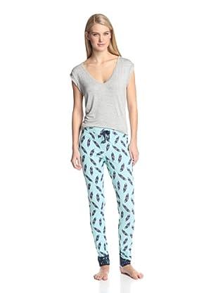 40 Winks Women's 2-Piece Pajama Set (Native Spirit)
