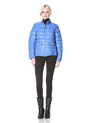 Hawke & Co. Women's High Density Quilted Jacket (Black/Royal Blue)