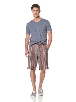 Benson Men's Woven Fancy Short (Multi Stripe)