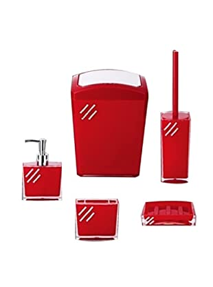 Welcome Home Set Accessori Bagno Rosso