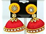 Manucreations_Red with Yellow Jhumka