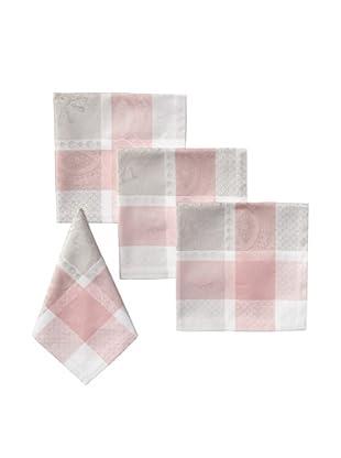 Garnier-Thiebaut Set of 4 Mathilde Napkins, Rose