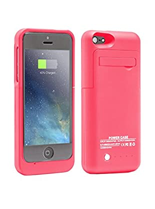 UNOTEC Funda Con Batería iPhone 5 / 5S / 5C Powercase Rosa