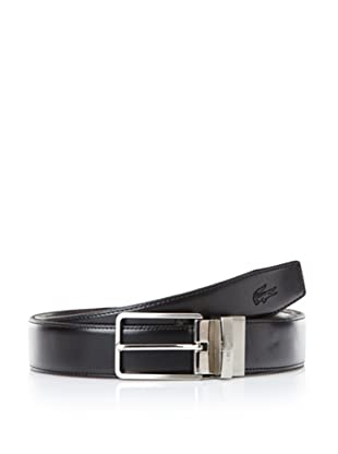 Lacoste Men's Reversible Leather Belt (Black/brown)