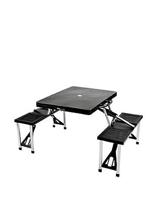 Picnic at Ascot Portable Picnic Table Set (Black)