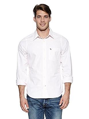 Abercrombie & Fitch Hemd Classic (weiß / orange)