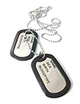 Ammvi Creations High Electro Polished Classic Duo Pendant Dog tag Necklace